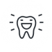Illustration of an outline of a smiling tooth